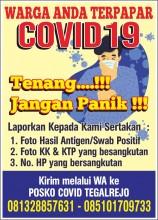 Tanggap Darurat penanganan COVID-19 Kelurahan Tegalrejo