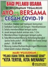 Poster edukasi bagi pelaku usaha